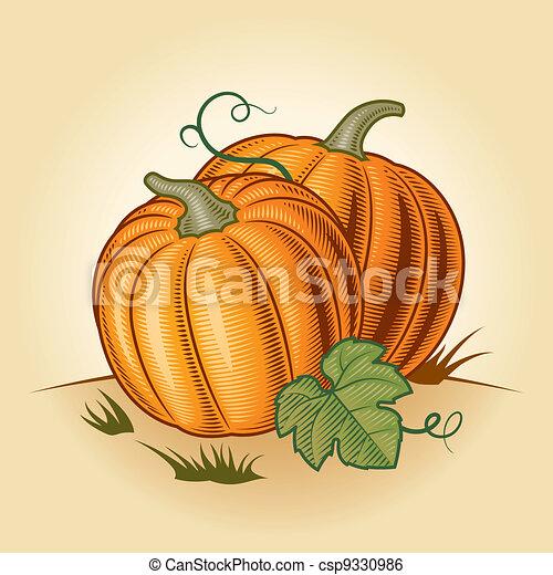 Retro pumpkins - csp9330986