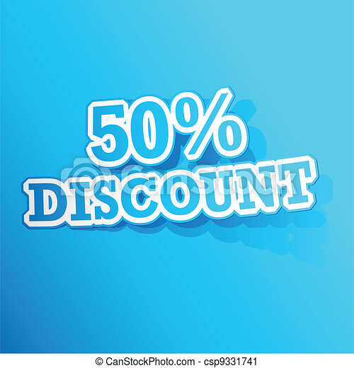 50 percent Discount  Sticker - csp9331741