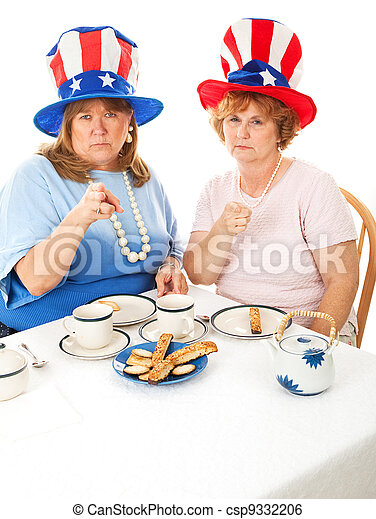 Stock Photo of Angry Tea Party Voters - csp9332206