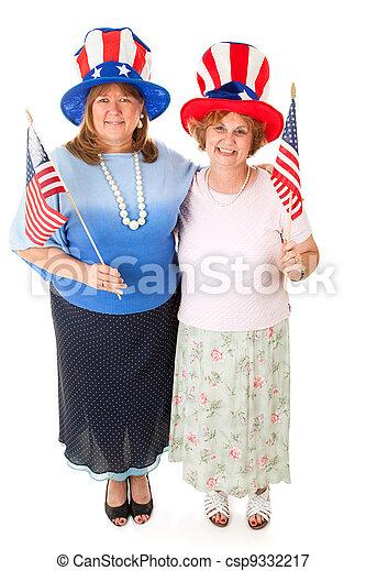 Stock Photo of American Voters - csp9332217