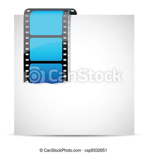 Film Stripe On Paper - csp9332651