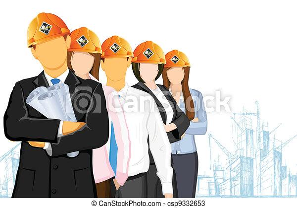Team of Architect - csp9332653