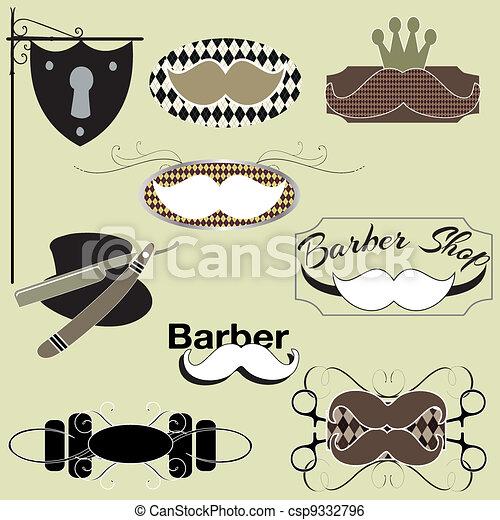 barber shop set - csp9332796