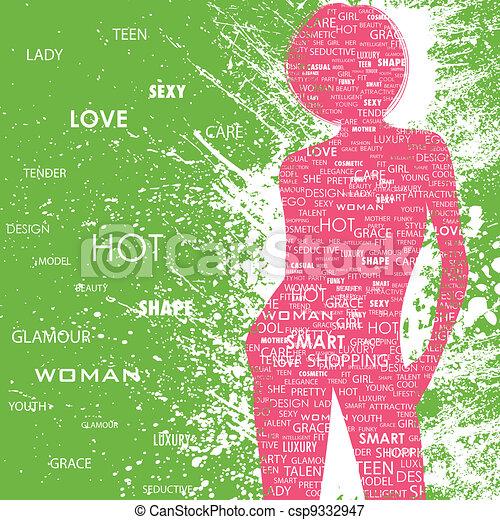 Lady in Fashion - csp9332947