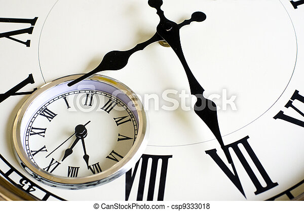 Time Passing Concept - Old Clock