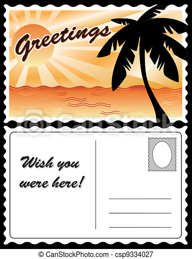 Tropical Landscape Postcard - csp9334027