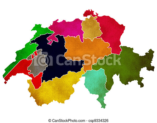 Map of Switzerland - csp9334326