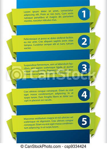 Origami label set - csp9334424