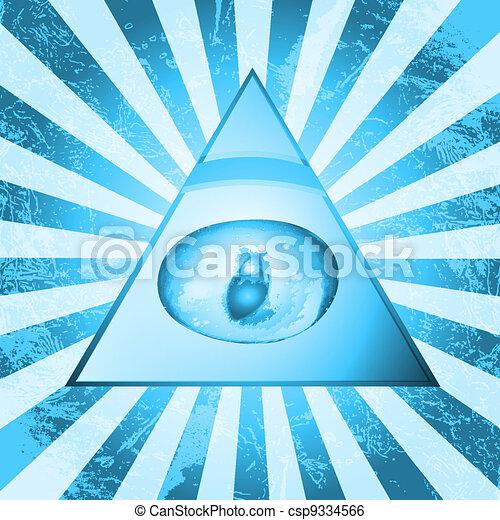 Pyramid Eye - csp9334566