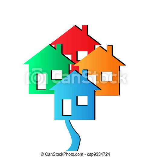 Vector 3D Houses - csp9334724