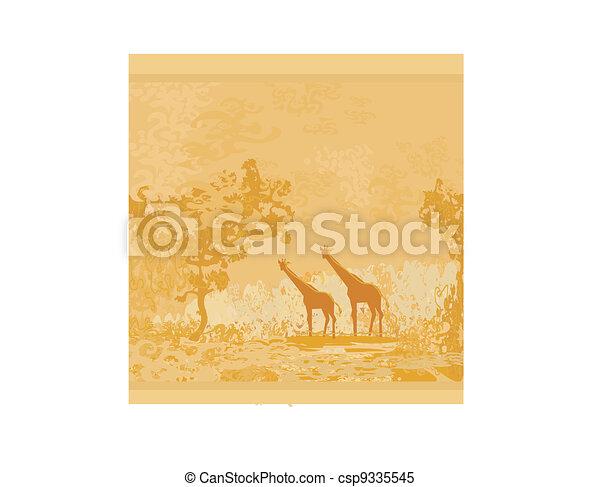 African fauna and flora  - csp9335545