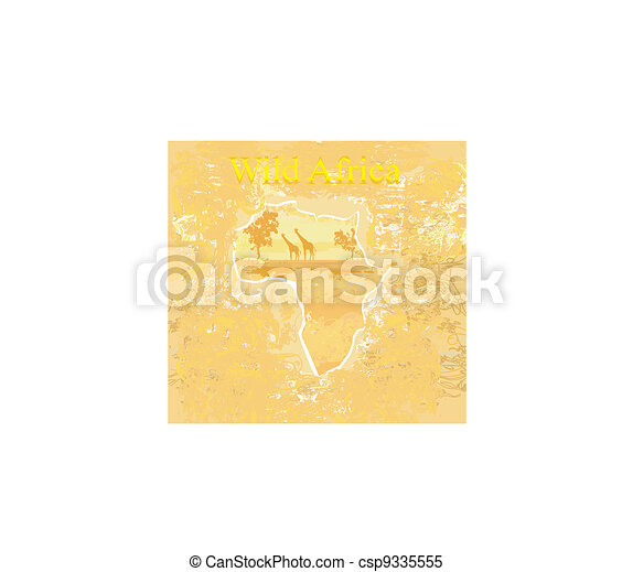 African fauna and flora - csp9335555