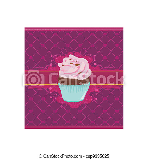 Charming Pattern With cupcake - csp9335625