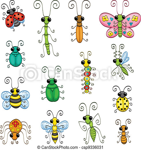 Cartoon insects - csp9336031