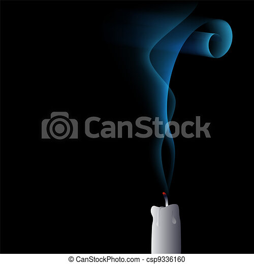 vector blown out candle - csp9336160
