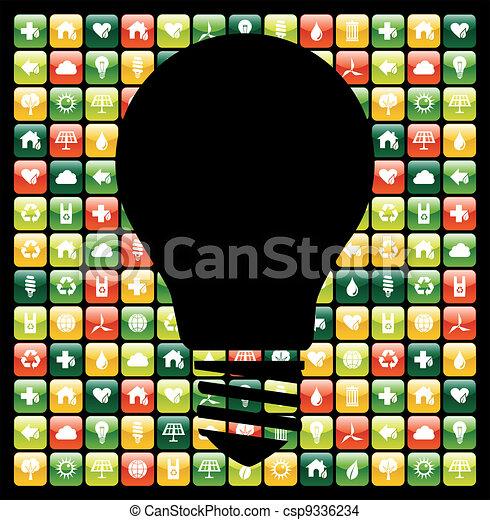Green mobile phone app ideas - csp9336234