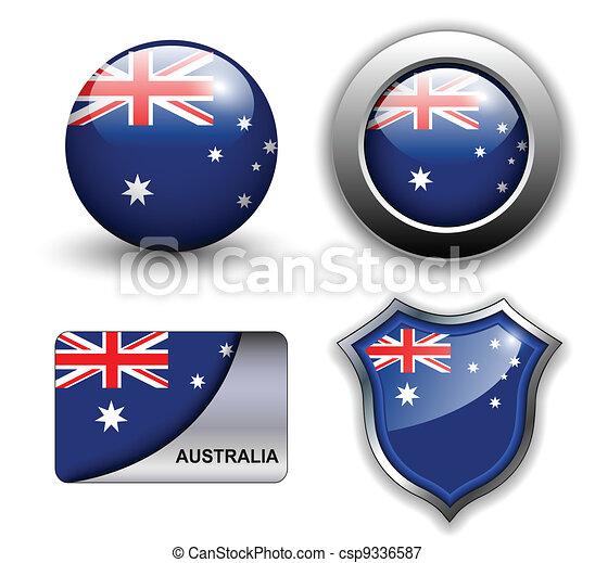Australia icons - csp9336587