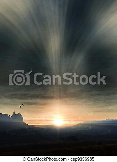 fantasy landscape - csp9336985
