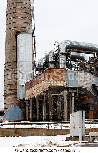 old energy facility. - csp9337151