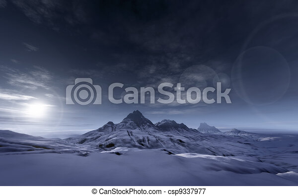 snowy mountains - csp9337977