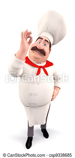 Funny chef with best luck - csp9338685