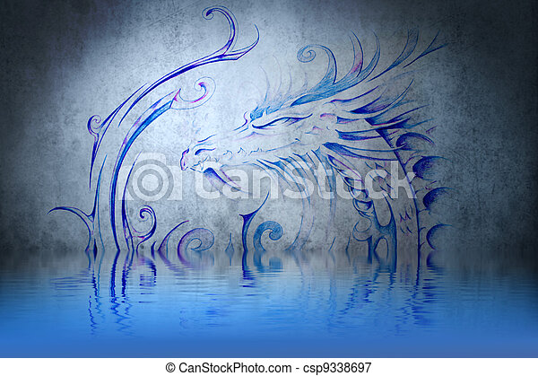 how to draw water reflection on wall