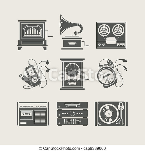 musical device set of icon - csp9339060