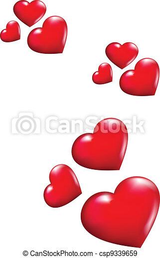 voando, corações - csp9339659