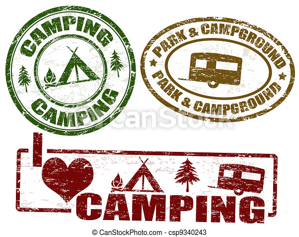 Camping stamps - csp9340243