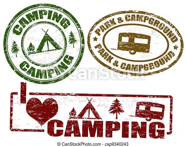 Camping stamps - csp9340243