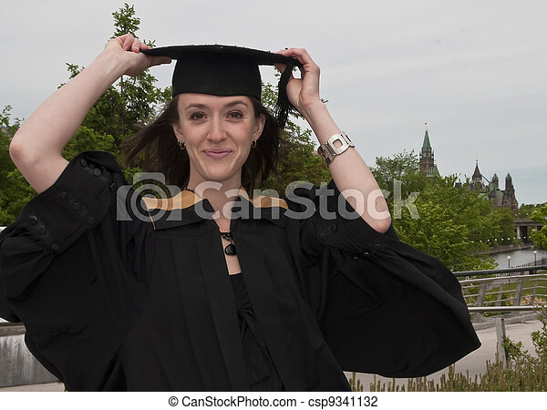 Graduation Pose - csp9341132