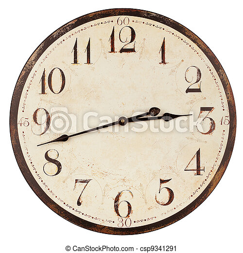 Old antique clock - csp9341291