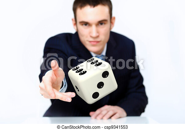 Dice as symbol of risk and luck - csp9341553