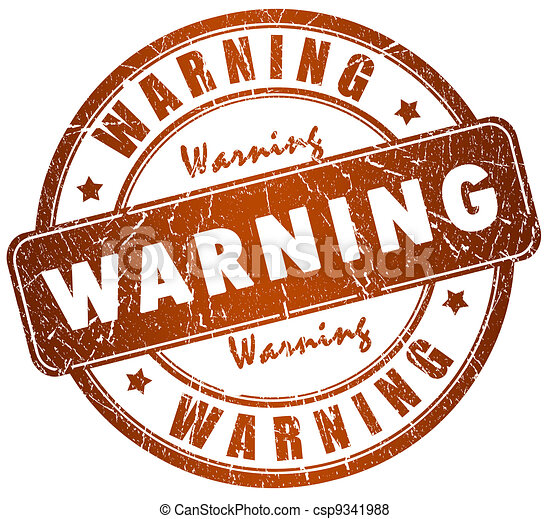 Warning stamp - csp9341988