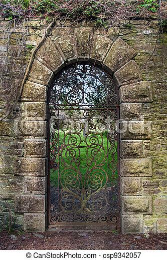 15th century Georgian wrought iron gate - csp9342057