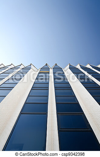 Glass surface. Structure of a business building. - csp9342398