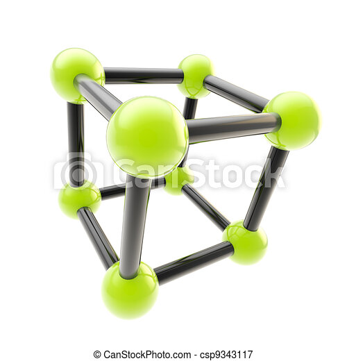 Chemistry and science symbol isolated - csp9343117
