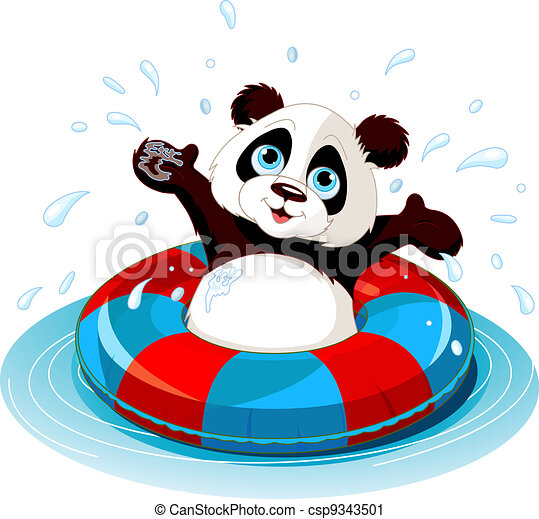 Summer fun Panda - csp9343501