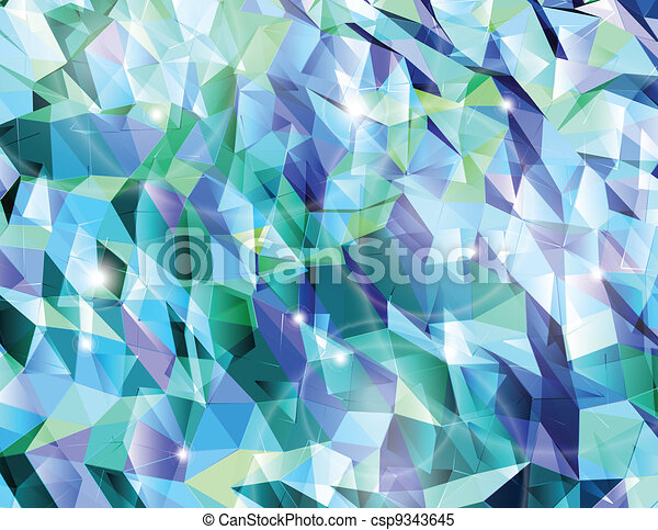 Abstract cyan background. Combination of triangle. Vector - csp9343645