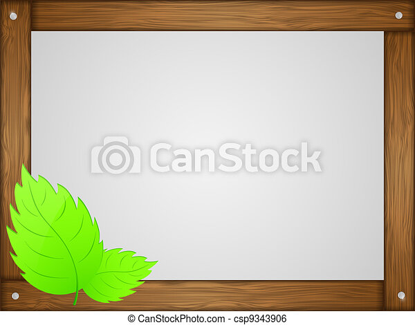 Frame Wood Vector Vector Wooden Frame With