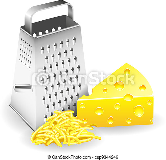 Grater and Cheese - csp9344246