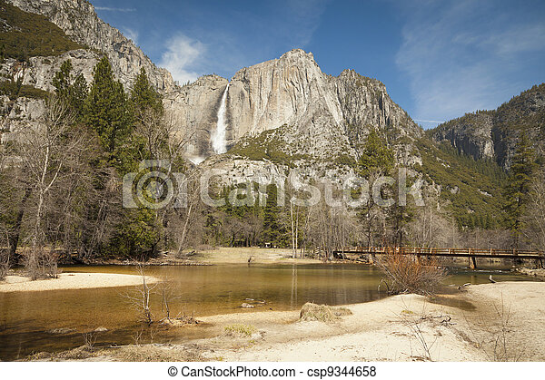 Upper Falls and Merced River at Yosemite - csp9344658