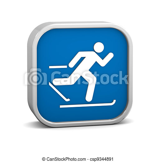 Cross country skiing sign - csp9344891