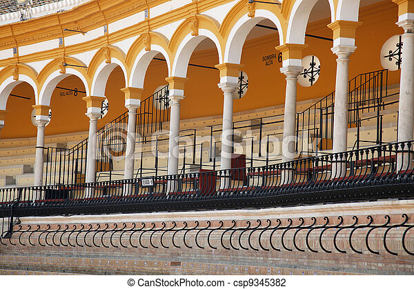 Seating Gallery Bullring Seville - csp9345382