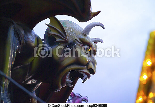 Devil Sculpture Dante's Inferno Coney Island - csp9346099