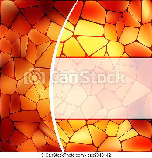 Stained glass design template. EPS 8 - csp9346142