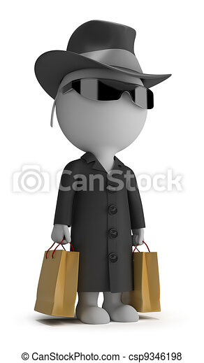 3d small people - mystery shopper - csp9346198