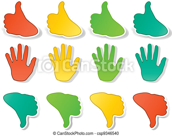 Hands expressions stickers - csp9346540