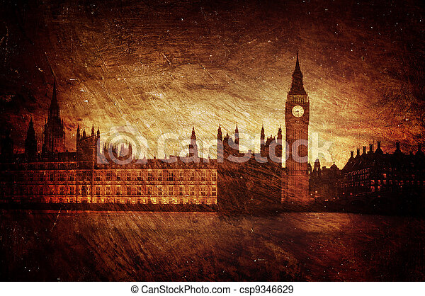 Houses of Parliament, London. - csp9346629
