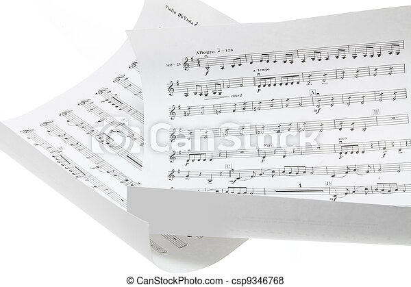 Close Up of Musical Scores